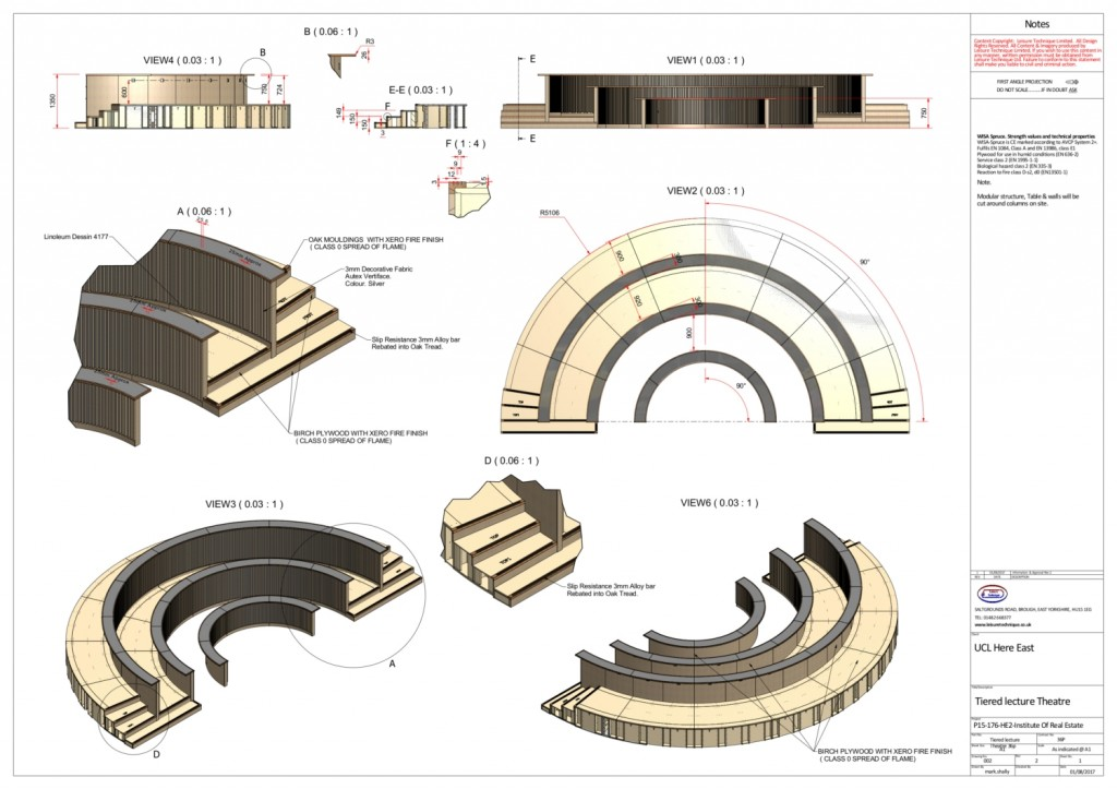 Tiered lecture Theatre 36p 10-08-17